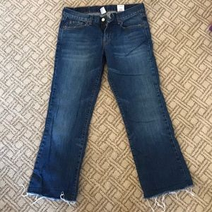 """Lucky Brand Dungarees """"Sweet 'n' low ankle"""" jeans"""